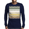 Cactus Garden Chevron 1 Mens Long Sleeve T-Shirt