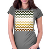 Cactus Garden Chevron 1 Womens Fitted T-Shirt