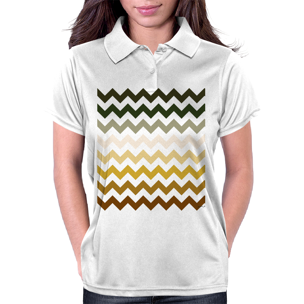 Cactus Garden Chevron 1 Womens Polo