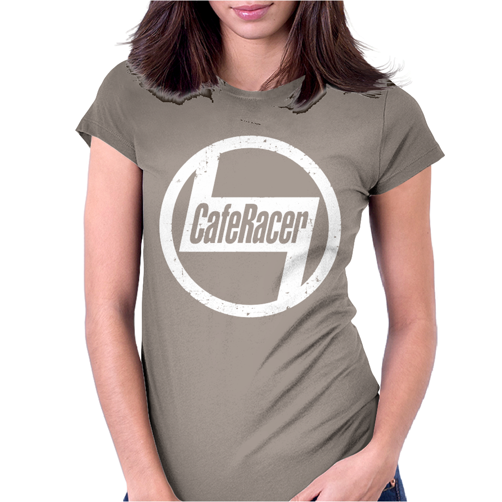 Cafe Racer Classic Biker Womens Fitted T-Shirt