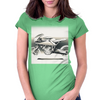 Cafe_Racer_Motorbike Womens Fitted T-Shirt