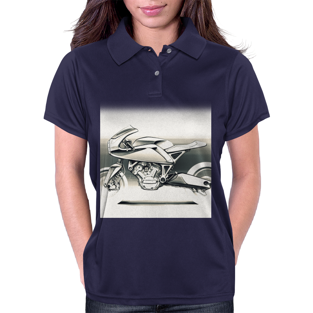 Cafe_Racer_Motorbike Womens Polo