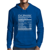 California Nutritional Facts Mens Hoodie