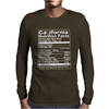 California Nutritional Facts Mens Long Sleeve T-Shirt
