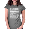 California Nutritional Facts Womens Fitted T-Shirt