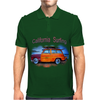 California Surfing Classic Woody Mens Polo