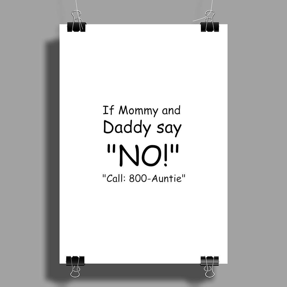 CALL 800-AUNTIE Poster Print (Portrait)