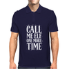 Call Me Elf One More Time Mens Polo