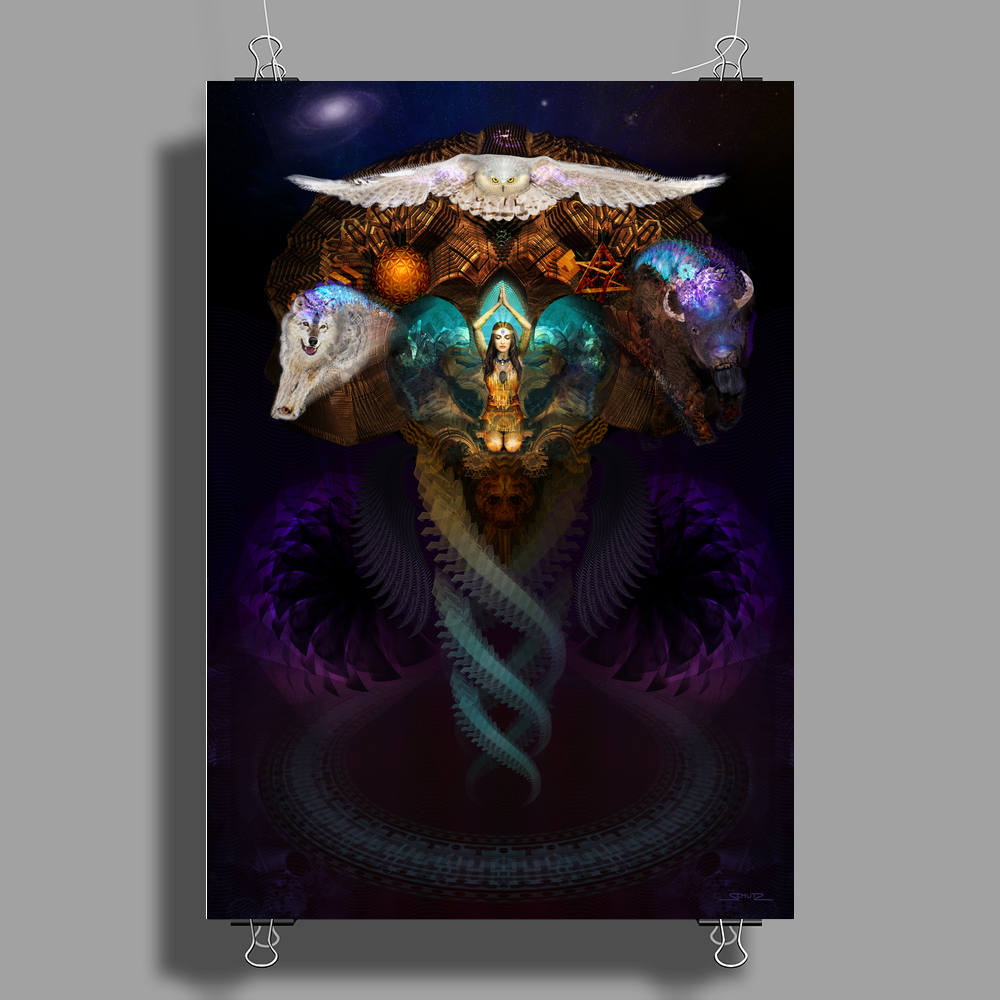Calling The Spirit Animals Poster Print (Portrait)