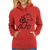 Calvin & Hobbes Comic Running Naked Womens Hoodie