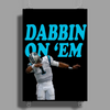 Cam Newton 'Dab On Em' Carolina Panthers Poster Print (Portrait)