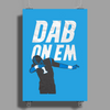 Cam Newton Dab On Em Poster Print (Portrait)