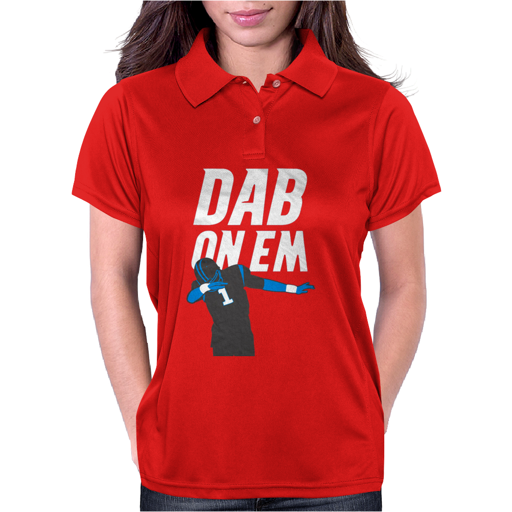 Cam Newton Dab On Em Womens Polo