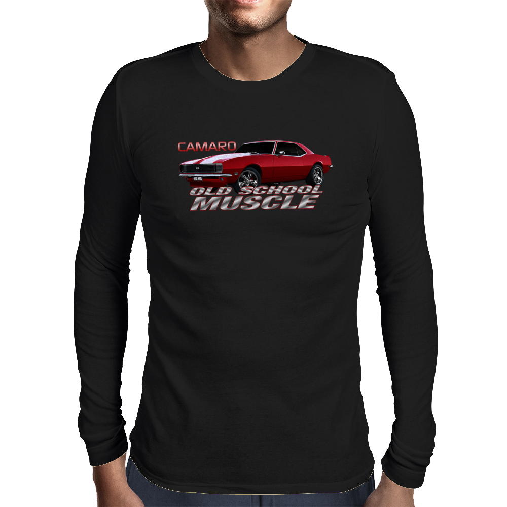 Camaro SS 1967 1968 1969 Old School Muscle Mens Long Sleeve T-Shirt