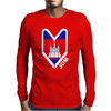Cambodia Cambodian Flag Mens Long Sleeve T-Shirt