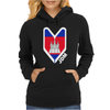 Cambodia Cambodian Flag Womens Hoodie