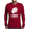 Camera I Shoot People 2 Mens Long Sleeve T-Shirt