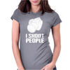 Camera I Shoot People 2 Womens Fitted T-Shirt