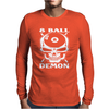 Camiseta De Billar Bola 8 Demon Mens Long Sleeve T-Shirt