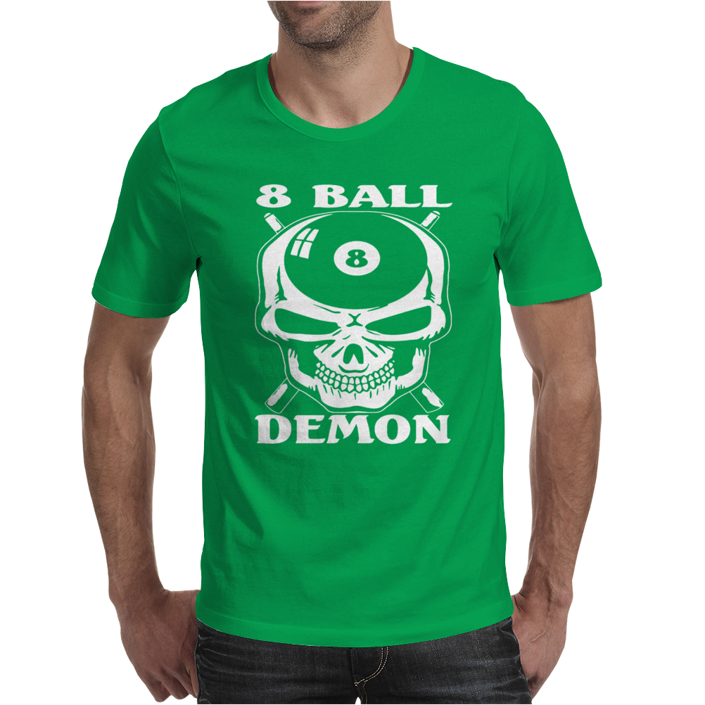 Camiseta De Billar Bola 8 Demon Mens T-Shirt