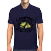Camping is in-tents. Mens Polo