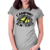 Camping is in-tents. Womens Fitted T-Shirt