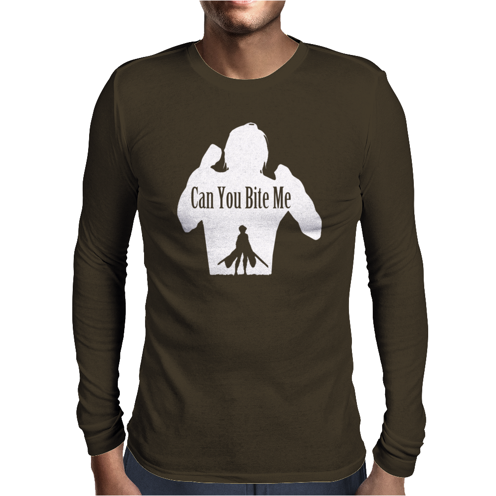 Can You Bite Me Mens Long Sleeve T-Shirt