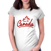 Canada Leaf Script Womens Fitted T-Shirt