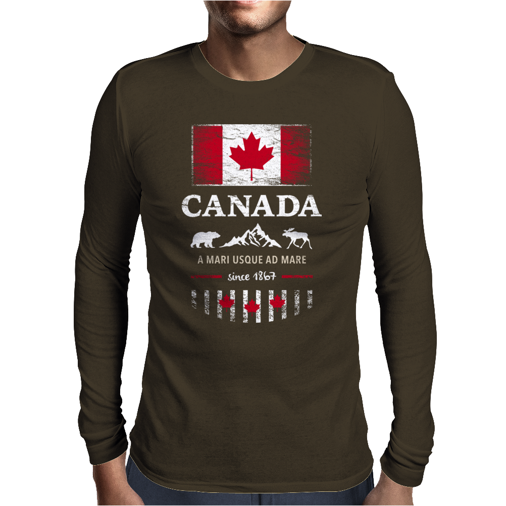 canada maple leaf from sea to sea Mens Long Sleeve T-Shirt
