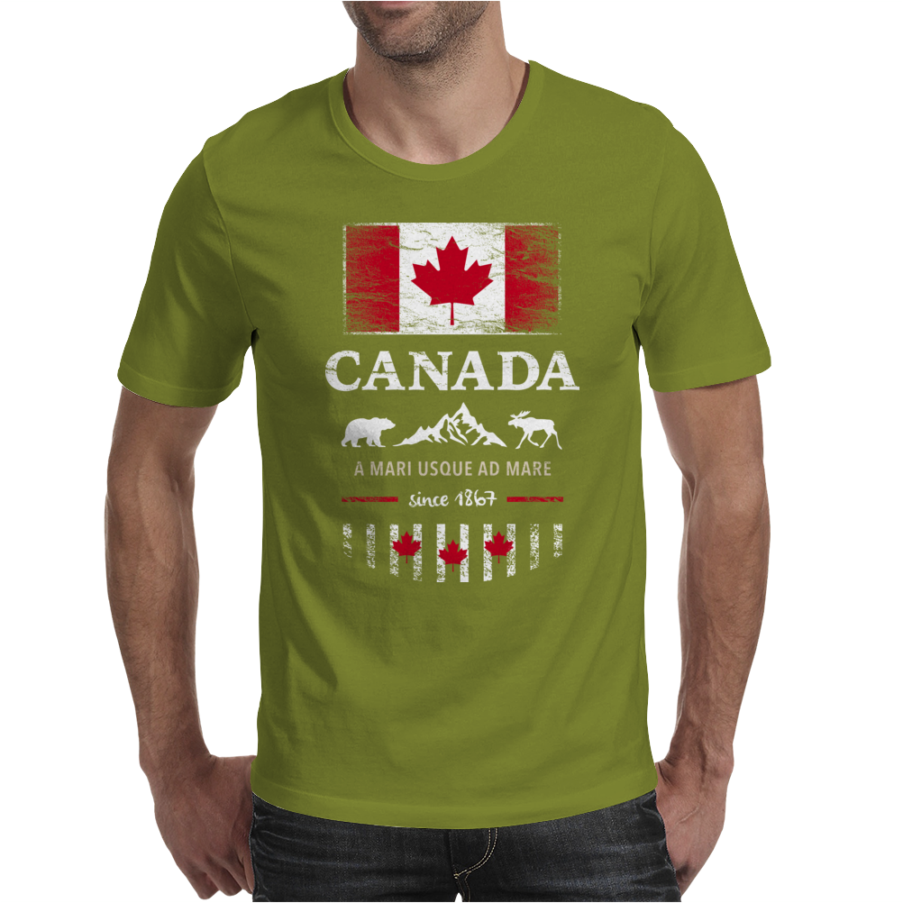 canada maple leaf from sea to sea Mens T-Shirt