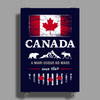 canada maple leaf from sea to sea Poster Print (Portrait)