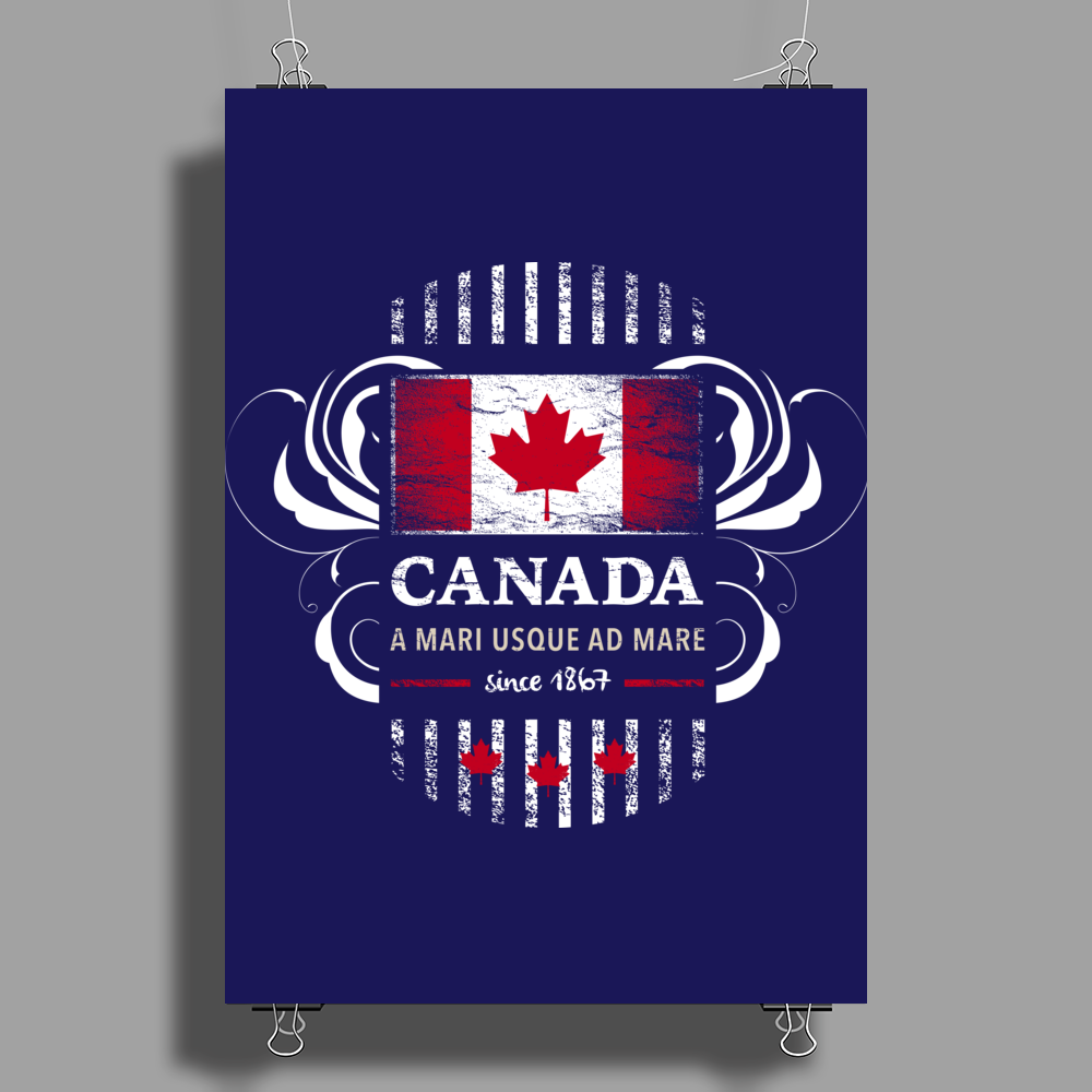 canada maple leaf from sea to sea since 1867 Poster Print (Portrait)