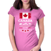 canada maple leaf from sea to sea Womens Fitted T-Shirt