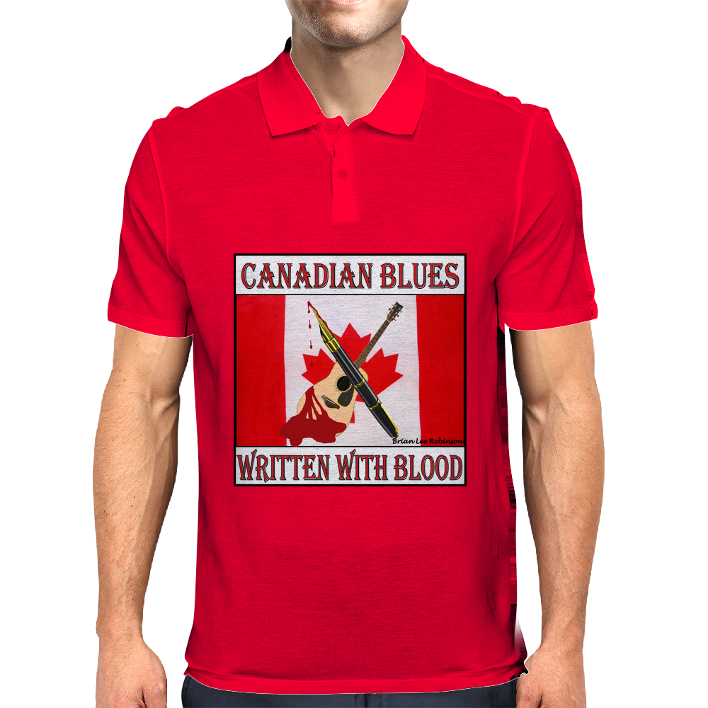 Canadian Blues-Written With Blood Mens Polo