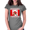 Canadian Blues-Written With Blood Womens Fitted T-Shirt