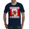 Canadian Country Music, Written In Blood Mens T-Shirt