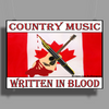 Canadian Country Music, Written In Blood Poster Print (Landscape)