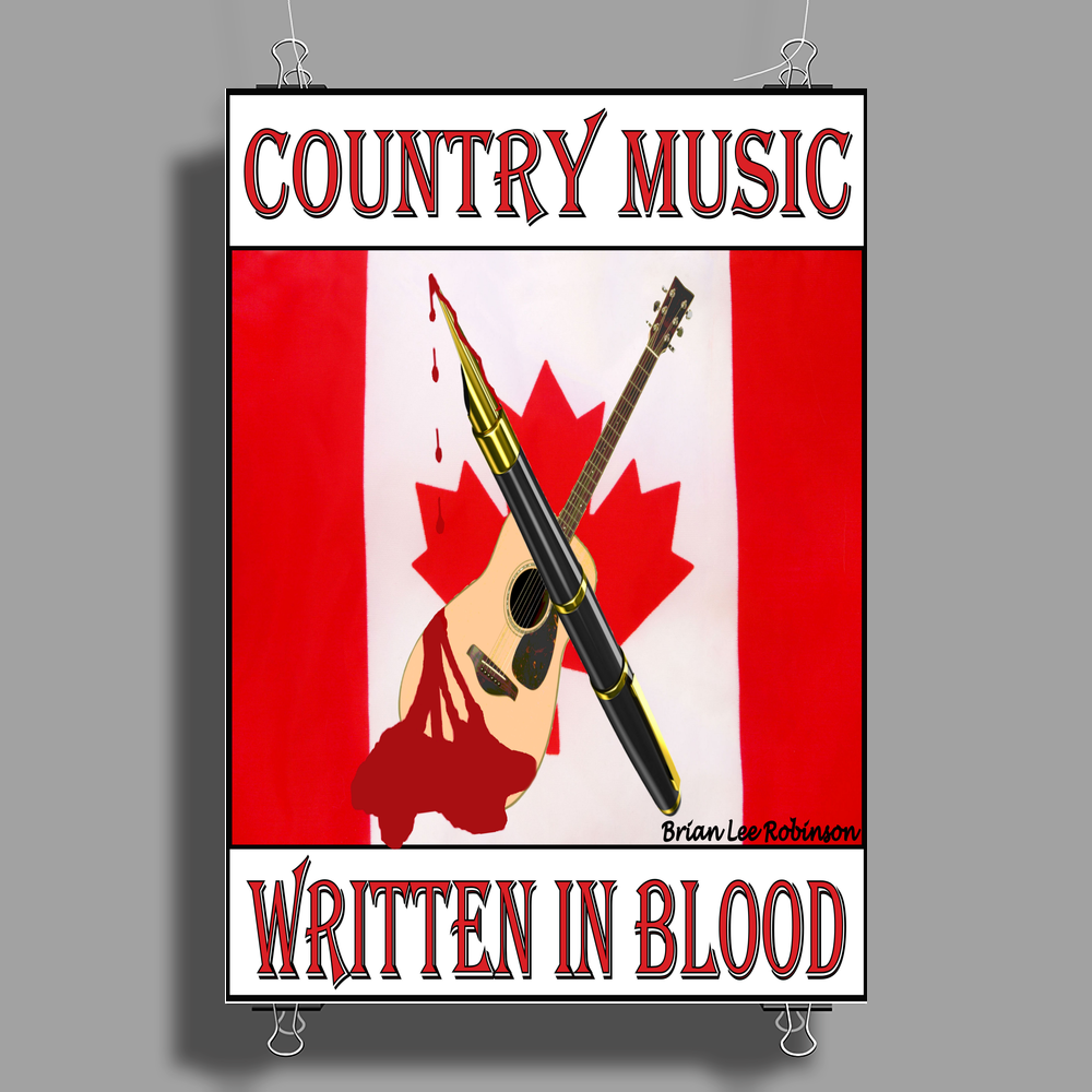 Canadian Country Music, Written In Blood Poster Print (Portrait)