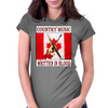 Canadian Country Music, Written In Blood Womens Fitted T-Shirt