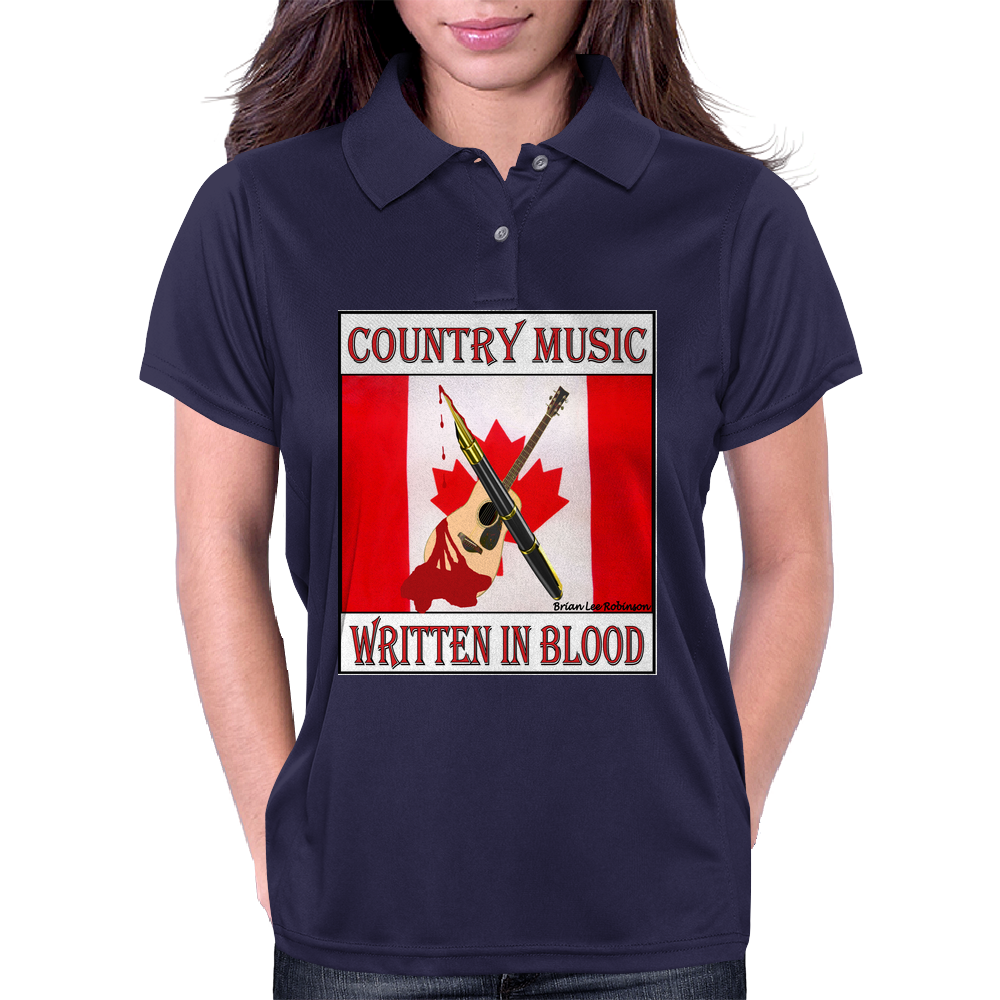 Canadian Country Music, Written In Blood Womens Polo