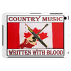 Canadian Country Music, Written With Blood Tablet (horizontal)