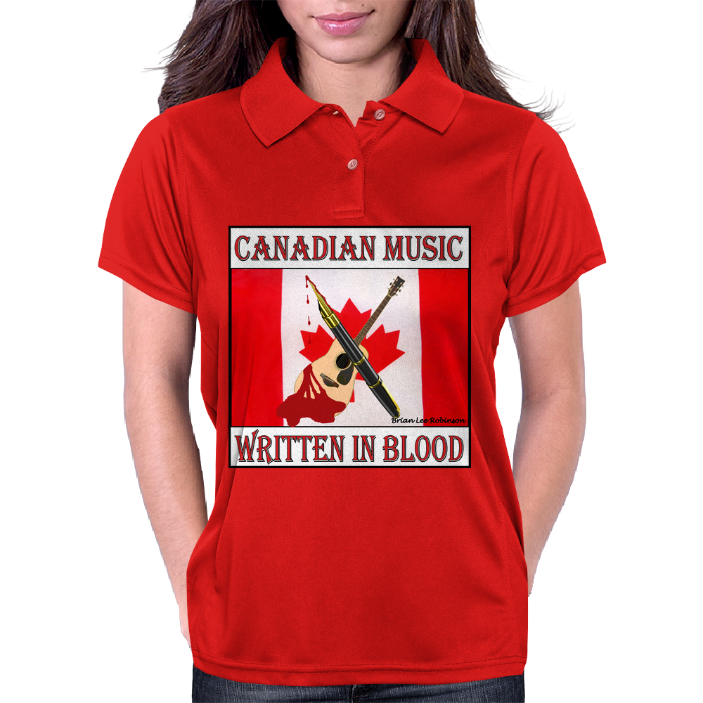 Canadian Music- Written In Blood Womens Polo