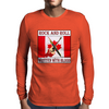 Canadian Rock and Roll- Written With Blood Mens Long Sleeve T-Shirt