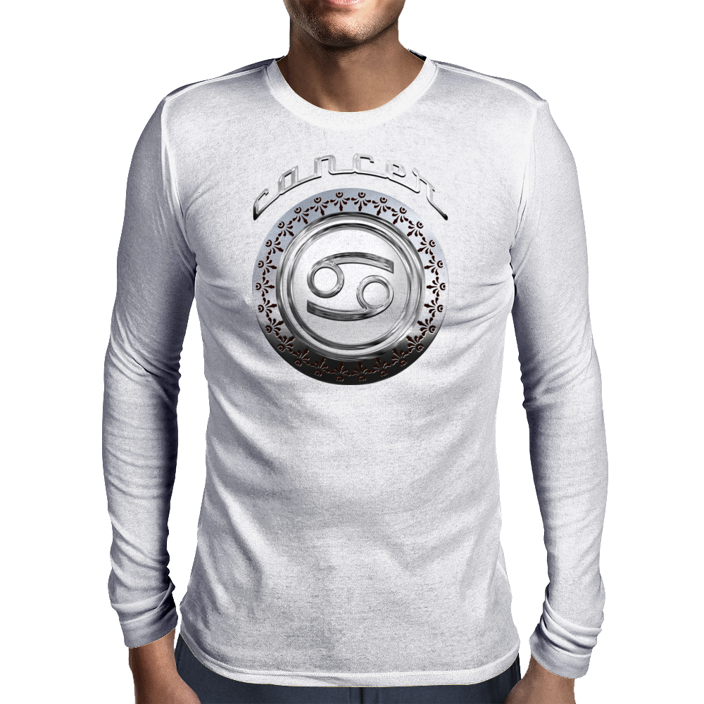 Cancer Astrological Sign Mens Long Sleeve T-Shirt
