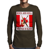 Candian Rock and Roll, Written In Blood Mens Long Sleeve T-Shirt