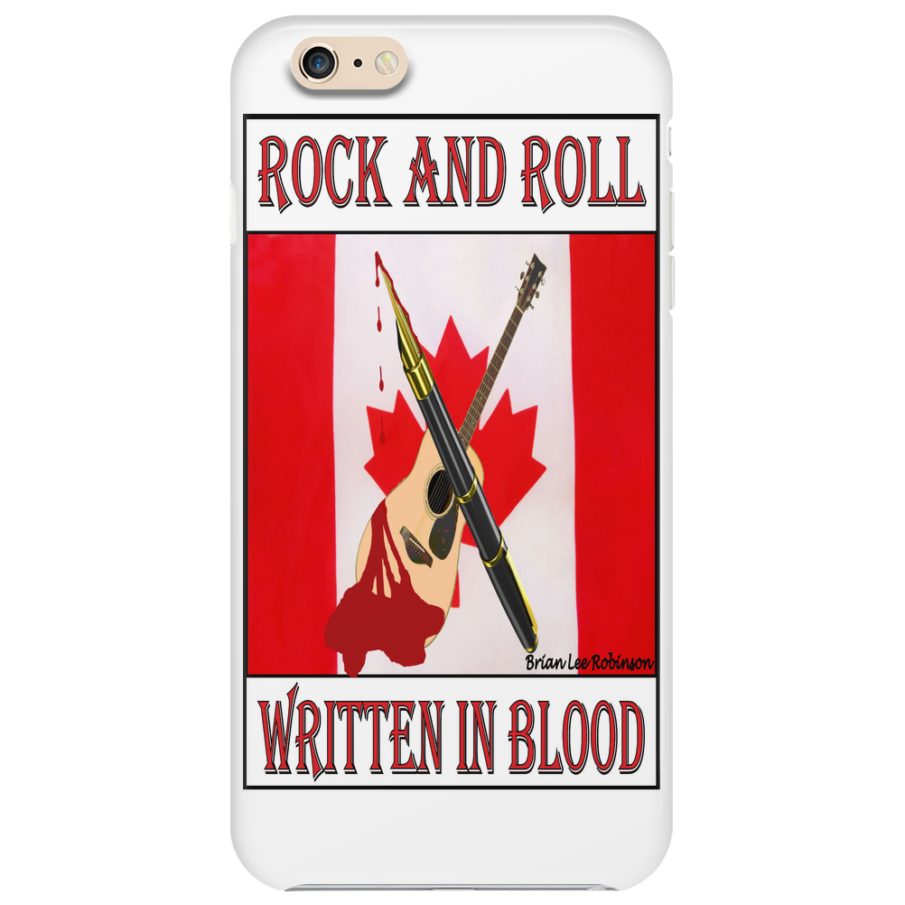Candian Rock and Roll, Written In Blood Phone Case
