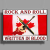 Candian Rock and Roll, Written In Blood Poster Print (Landscape)