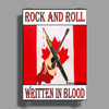 Candian Rock and Roll, Written In Blood Poster Print (Portrait)