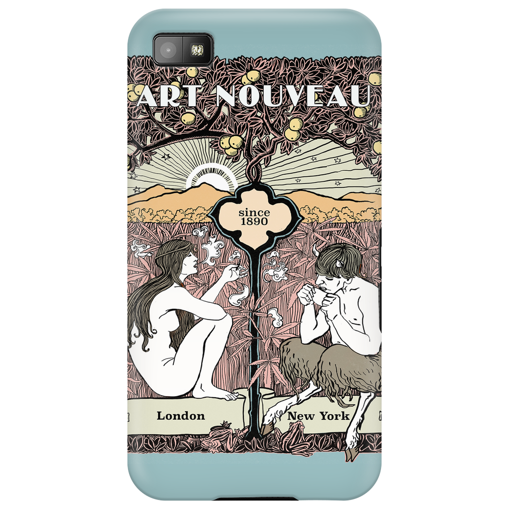 Cannabis Art Deco modern sophisticated design Phone Case