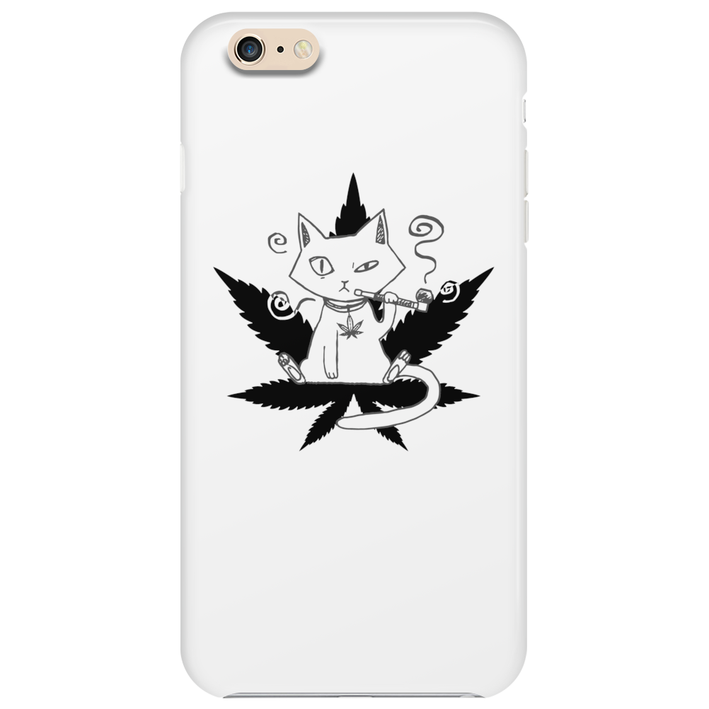 Cannabis Cat/Puss and Kush Phone Case